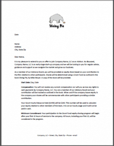 Advisory board member letter slicing pie advisory board member letter for grunt funds stopboris